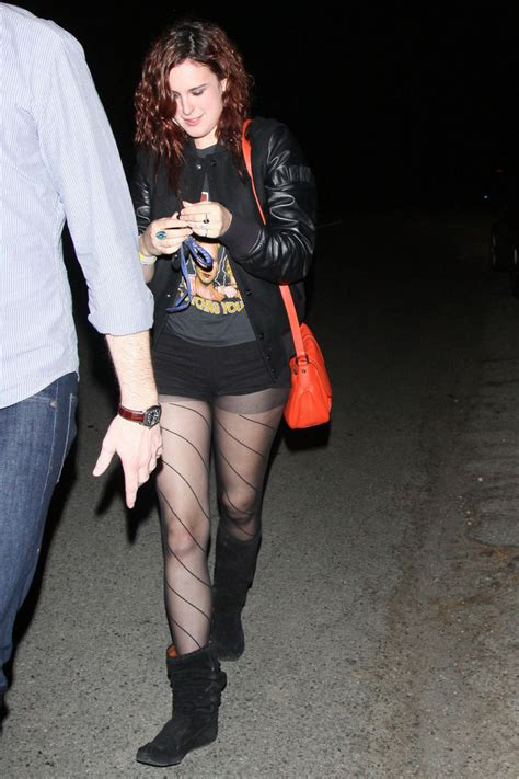 Rumer Willis shows off her legs in a short shorts while