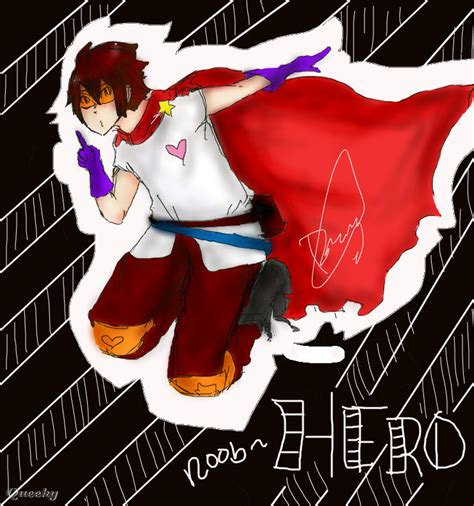 Noob hero- ← an anime Speedpaint drawing by Dazzychan